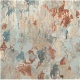 Vliesové tapety na zeď IMPOL Metropolitan Stories omítka s patinou modro-rezavou