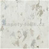 Vliesové tapety na zeď IMPOL Metropolitan Stories omítka bílá s patinou modro-hnědou
