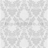 Vliesové tapety na zeď Mixing ornamenty šedé na bílém podkladu