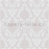 Vliesové tapety na zeď Mixing ornamenty bílé na šedém podkladu