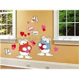 Samolepky na zeď Bears 50 cm x 70 cm