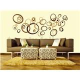 Samolepky na zeď Brown Circles 50 cm x 70 cm