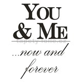 Samolepky na zeď - You and Me 45 x 65 cm