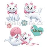Samolepky na zeď dětské - kočička Marie 30 x 40 cm
