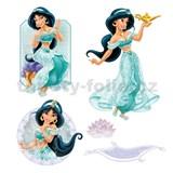 Samolepky na zeď dětské - princezna Jasmína 30 x 40 cm
