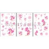 Samolepky na zeď - víly růžové