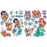 Samolepky na zeď Disney - Whisker Haven Tales princezny a zvířátka rozměr 2 x 45 x 65 cm