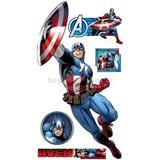 Samolepky Star Captain America Avengers 90 x 160 cm