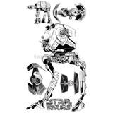 Samolepky Star Wars AT-AT