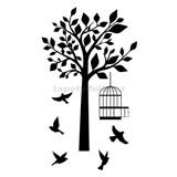 Samolepky na zeď ptáci a strom