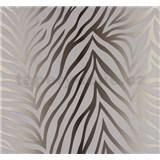 Vliesové tapety na zeď NENA zebra vzor stříbrno-hnědý