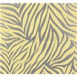 Vliesové tapety na zeď NENA zebra vzor stříbrno-žlutý