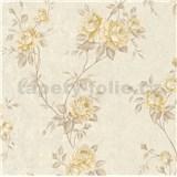 Vliesové tapety na zeď IMPOL Romantico popínavé růže krémovo-hnědé