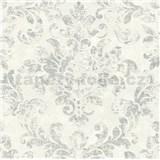 Vliesové tapety na zeď IMPOL New Studio barokní vzor krémovo-stříbrný