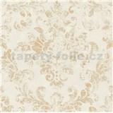 Vliesové tapety na zeď IMPOL New Studio barokní vzor béžovo-zlatý