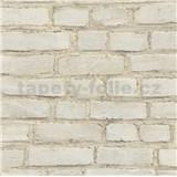 Vliesové tapety na zeď IMPOL New Studio cihla béžová