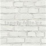 Vliesové tapety na zeď IMPOL New Studio cihla bílo-šedá