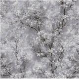 Vliesové tapety IMPOL New Wall florální vzor černo-bílý