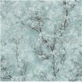 Vliesové tapety IMPOL New Wall florální vzor tyrkysový
