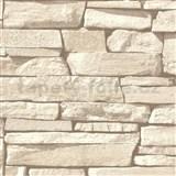 Vliesové tapety na zeď IMPOL Nomad ukládaný pískovec světle hnědý