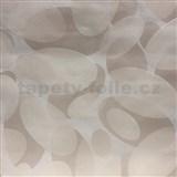Vliesové tapety na zeď Barletta moderní elipsy světle hnědé
