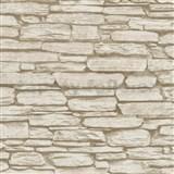 Vliesové tapety na zeď Belinda kámen ukládaný hnědý