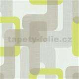 Vliesové tapety na zeď Novara moderní čtverce zelené