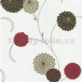 Vliesové tapety na zeď Novara květy červené