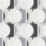 Vliesové tapety na zeď IMPOL Novara 3 korálkový vzor vzor šedo-černý s třpytkami