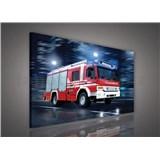 Obraz na plátně hasiči 75 x 100 cm
