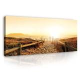 Obraz na plátně cestička na pláž 150 x 50 cm