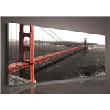 Obraz na plátně Golden Gate Bridge 45 x 145 cm