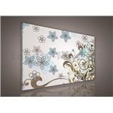 Obraz na plátně květy s ornamenty 75 x 100 cm