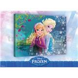 Obraz na pl�tn� Frozen Anna a Elsa 100 x 75 cm