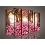 Obraz na plátně alej stromů 150 x 100 cm