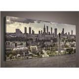 Obraz na plátně velkoměsto 145 x 45 cm