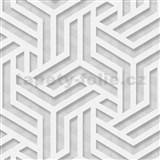 Vliesové tapety na zeď IMPOL Onyx Art-Deco metalické stříbrno-šedé