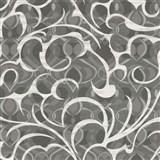 Vliesové tapety na zeď Opulence abstraktní vzor tmavě šedo-bílý