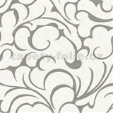 Vliesové tapety na zeď Opulence abstraktní vzor šedo-bílý-SLEVA