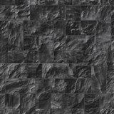 Vliesové tapety na zeď Origin - kámen obkladový černo-šedý