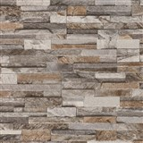 Vliesové tapety na zeď Origin - kámen pískovec hnědý