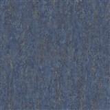 Vliesové tapety na zeď Origin - jednobarevná kovový vzhled modro-zlatá
