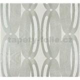 Vliesové tapety na zeď Ornamental Home - elipsy stříbrné