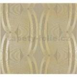 Vliesové tapety na zeď Ornamental Home - elipsy zlaté