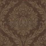 Luxusní tapety na zeď Orpheo zámecký ornament hnědý