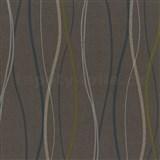 Vliesové tapety na zeď Patchwork - vlnovky tyrkysovo-bílé - SLEVA
