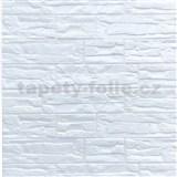 Samolepící pěnové 3D panely rozměr 70 x 77 cm, ukládaný kámen bílý