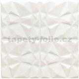 Samolepící pěnové 3D panely rozměr 70 x 70 cm, diamant bílý