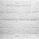 Samolepící pěnové 3D panely rozměr 70 x 77 cm, ukládaná břidlice bílá