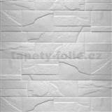 Samolepící pěnové 3D panely rozměr 76 x 68 cm, kámen bílý
